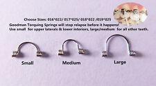 50pcs Dental Goodman Anterior Teeth Torque Rectangular Springs Bracket Wires Lms