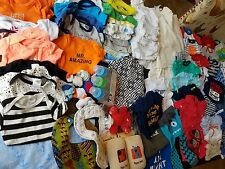 Huge Spring Summer Baby Boy Clothes Lot Newborn To 0-3 Month 105 Pieces EUC