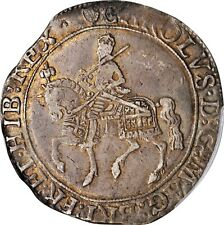 More details for 1632 - 3 uk great britain silver 1/2 crown charles i pcgs xf 40 pop only one