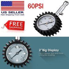 0-60Psi Tire Gauge Car Truck Auto Motor Tyre Tire Pressure Gauge Tester Usa