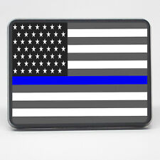 """Trailer Hitch Cover Back The Blue Thin Blue Line Flag 2 inch (2"""") Tow Hitch Plug"""