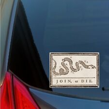 Join Or Die colonial sticker decal Sons of Liberty American Revolution Tea Party
