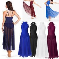 Ladies Womens Adult Ballet Leotard Dress Dance Maxi Skirt Gymnastics Unitard New