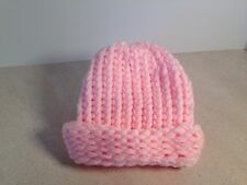 Handmade Knitted Pink Newborn /Baby Hat,Baby Girl Hat,Shower Gift