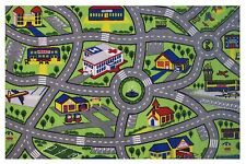 "CHILDREN'S PLAY ROAD MAP DESIGN AREA RUG 39""X58"" - BABY/KID RUG NEW"