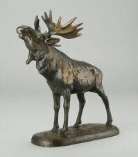 Bronze - Elch - 24 x 20 cm. Gewicht 2,2 kg.