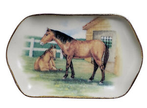 Miniature Dollhouse Horse Tray Plate Handemade USA 1:12 Scale New