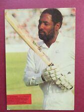 Sport memorabilia West Indies CRICKET player Vivian Richards Picture postcard