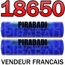 2 x LITHIUM ION PILE 4,2 V 8800mAh Type 18650 Li-ion 65 x 18 mm BATTERIE ACCU