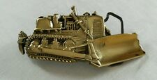 BULLDOZER CONSTRUCTION HEAVY EQUIPMENT TRACTOR SOLID BRASS BELT BUCKLE