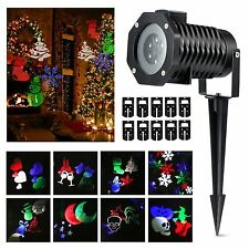 RG Garden Laser Projector Light LED 10 Slides Outside Christmas Xmas Party Light