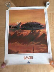 "Vintage Star Wars ""Star Tours"" Bespin 1986 poster Lucasfilm Disney Rare 18""x24"""