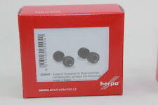 Herpa 054041 Wheel Sets For Tractors With Broad Tires Black With Chrome Ring