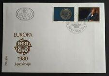 1980 Yugoslavia Stamp FDC - Europa 1980  - 28/4/80 - Unaddressed