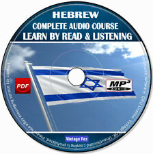 Hebrew Language Course Learn By Read & Licensing Beginners To Advance MP3 CD