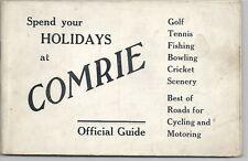 Vintage guidebook Comrie Perthshire 1930s