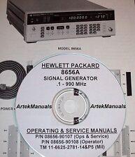 Hewlett Packard Ops & Service Manuals 2-volume for the 8656A RF Signal Generator