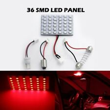 2X RED LED DOME MAP INTERIOR LIGHT BULB SMD 36-LED PANEL XENON HID LAMP