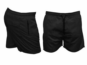 Mens ZIP POCKETS Swim Shorts Trunks PREMIUM Swimming Beach Mesh Holiday S-XL