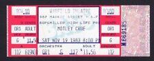1983 Motley Crue Unused Concert Ticket Warfield San Francisco Shout At The Devil