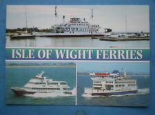 POSTCARD THE ISLE OF WIGHT FERRIES