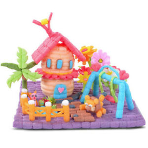 Corn Kernels Handmade DIY Kindergarten Building Blocks Foam Art Craft Toy Bricks