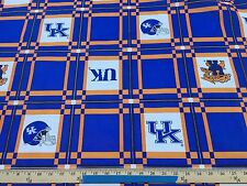 UK KY Kentucky Wildcats Tablecloth Vinyl Fabric SEC Oil Cloth Corn Hole Tailgate