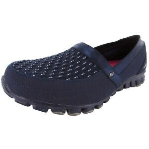 Skechers Womens EZ Flex Two Step 22619 Slip-On Sneaker Shoe, Navy, US 6.5