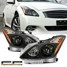 For 08-13 Infiniti G37 Coupe / 14-15 Q60 Black Replacement Projector Headlights (Fits: Infiniti)