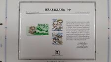 souvenir card PS 29 Brasiliana 1979 1978 31¢ airmail Wright Brothers pair