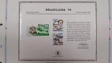 souvenir card PS 29 Brasiliana 1979 1978 31¢ airmail Wright Brothers pair