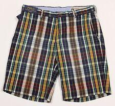 Men's POLO RALPH LAUREN Colors Madras Plaid Shorts 33 NWT NEW Classic Fit HOT!!