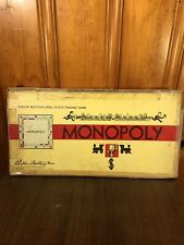 Vintage Monopoly Board Game 1935 1946 Parker Brothers Real Estate Trading Game