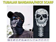 Tube/Bandanna Seamless Face Shield Mask Microfiber Multi Purpose Skull (F) QA12