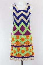 Moschino Cheap&Chic Multicolor Geometric Print Sleeveless Crochet Dress Size 8