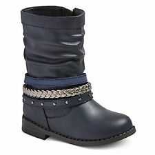 New CAT & JACK Toddler Girls Size  Virginia Navy Scrunch Bracelet Boots