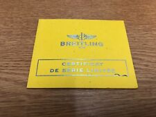 Breitling Watch Limited Edition Certificate Avenger Sea Blacksteel Code Orange