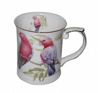 New Fine Bone China Galah Coffee Tea Mug w Handle Cup 415cc In Box Gift