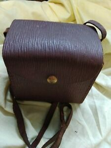 original BOX BROWNIE hard Leather case in good condition