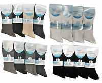 12  Mens Non Elastic Soft Easy Grip Cotton Socks Real Comfort Diabetic Socks New