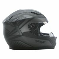 Fly Racing Conquest Mosaic Full Face Motorcycle Helmet Flat Black/Grey - Adult