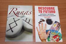 9.- SET 2 BOOKS libros juego DESCUBRE TU FUTURO, EL LIBRO DE LAS RUNAS