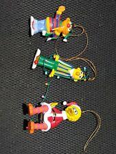 Lot of 3 Christmas on Sesame Street Bert And Ernie BigBird Ornaments