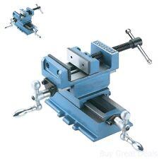Sliding Vise Cross Slide 3 Inch 2 Way Clamp Metal Heavy Duty Steel Jaw Machine Y