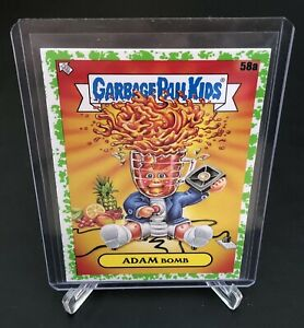 2021 Garbage Pail Kids GPK Food Fight, 58a Adam Bomb, booger green parallel card