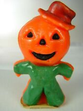Vintage Gurley Halloween Jack-O-Lantern Scarecrow #6 - Great w Label, No Wick