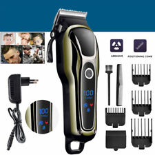 Professional Men Electric LCD Hair Clipper Trimmer Haircut Machine Barber Shaver