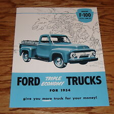 1954 Ford Truck F-100 Pickup Sales Brochure 54