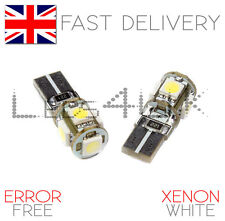 2x Super Bright Xenon White Sidelight 5 LED Bulbs Replacement 501 W5W T10 Canbus