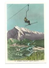 BANFF ALBERTA CA Mt Norquay Chairlift Snow Skier Vtg PC
